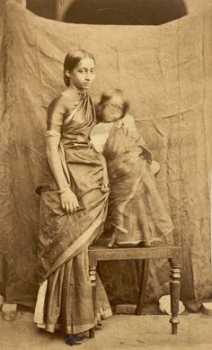 South Indian woman and child. Archaeological Survey of India, 1867