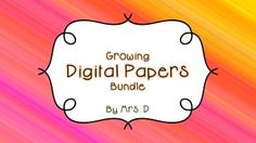 This growing bundle contains all of the digital papers from my store.  It is full of a large variety of digital papers for your personal, classroom, and commercial use!Currently holds almost 150 digital papers!  This is a very large file!