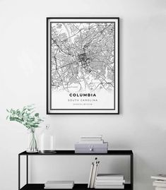Columbia Map Poster - Minimalistic wall art by Skanndi | Map Wall Art | Wall Art Decor | Printable Wall Art | Wall Art Prints | DIY Wall Decor |