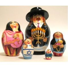 Jewish family Russian nesting dolls