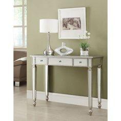 Coaster Furniture Antique Silver Mirrored Console Table - 950014 #CoasterFurniture