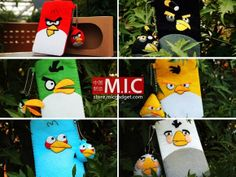 case Angry Birds, Felt Case, Patches, Pouch, Christmas Ornaments, Felted Bags, Holiday Decor, Artwork, Purses