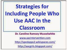 AAC Girls: Strategies: Including Students Who Use AAC