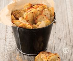 Oven-fried homemade potato chips with a kick of malt vinegar, what could be better?