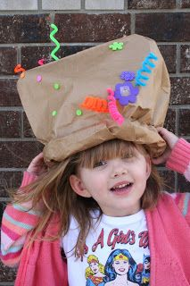 Paper Bag Mad Hatter from Recycled Toys.  An easy, eco-friendly craft.