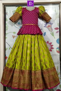 Girls Frock Design, Long Dress Design, Baby Dress Design, Kids Lehanga Design, Baby Design, Frocks For Girls, Dresses Kids Girl, Long Frocks For Kids, Indian Dresses For Kids