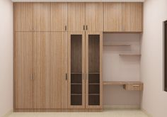 Cristobal wooden wardrobe with loft and study table. Made up of plywood with laminate finish. Get home this customized design at affordable prices only at Scale Inch. Make your bedroom look affluent with this furniture
