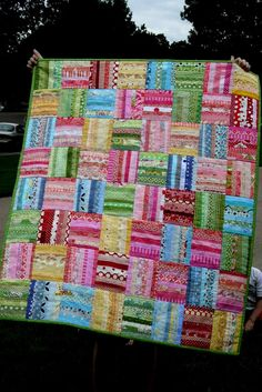 fruit stripe by crazymomquilts, via Flickr