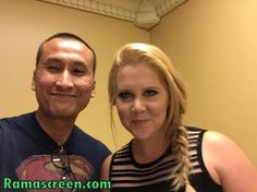 "With the ever so funny AMY SCHUMER (""Inside Amy Schumer', ""Trainwreck"")  Please LIKE my Facebook page at Facebook.com/ramascreen"