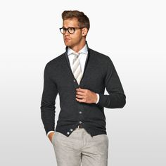 Daily pick: The dark grey cardigan. #SUITSUPPLY