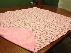 """PRICE: $25.00. Flannel """"Hello Kitty"""" with pink backing (""""38 X 33"""") MADE BY KRIS"""