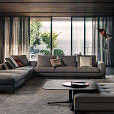 Contemporary Living Room by Die Einrichtung Zankl