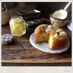Pear Cake - Dollhouse Miniature Food