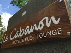 Logo design and painted wood sign on a Guanacaste wooden board for Le Cabanon - hotel & pool lounge, Nosara Costa Rica Nosara, Pool Lounge, Hotel Pool, Painted Wood Signs, Costa Rica, Logo Design, Home Decor, Shed, Decoration Home