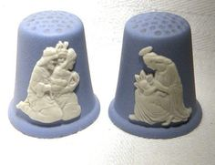 Thimble Pair Wedgwood Jasper Christmas 1989 | eBay