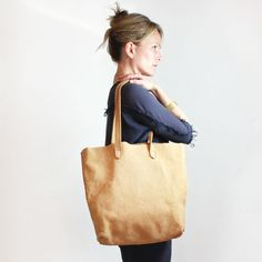 Montauk in camel nubuck #tote #bag #handbag by Shannon South