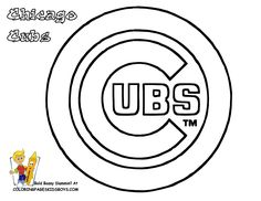 03 Chicago Cubs Baseball Coloring At Pages Book For Kids Boys 1056