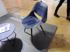 Dauphin presented a chair made of used jeans. The concept of using jeans as a fabric is not new, but this one is very nice Rotterdam, The Selection, Concept, Chair, Nice, Jeans, Fabric, Design, Tejido