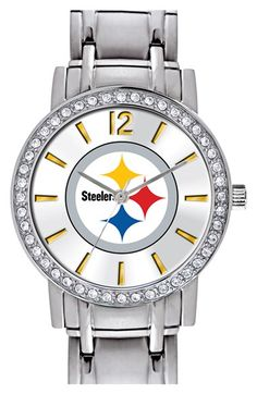 Women's Game Time Watches 'NFL All Star - Pittsburgh Steelers' Crystal Bezel Bracelet Watch