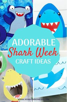 Whether you're looking for shark week activities for kids, shark week crafts, or shark crafts, you'll love all these shark crafts for kids! You can find shark crafts for preschoolers and shark crafts for toddlers. If you need shark activities for kids, shark activities for preschoolers, or shark activities for kindergarten, all these shark activities are great! They're perfect for ocean crafts for kids, summer crafts for kids, or beach crafts for kids, too! Beach Crafts For Kids, Summer Crafts For Toddlers, Ocean Crafts, Beach Kids, Toddler Crafts, Preschool Crafts, Summer Kids, Kids Crafts, Shark Week Crafts