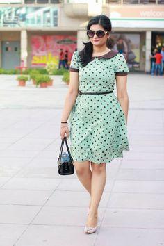 Vintage polka dots dress