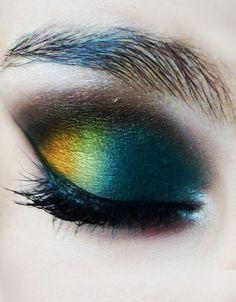 Peacock eyeshadow