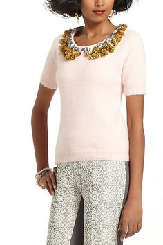 Peter-Pan Paillettes Sweater #anthropologie