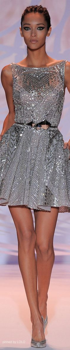Metallic dresses, love or hate?  I happen to Love! Zuhair Murad Fall 2014 Couture Collection
