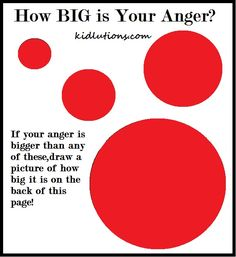 How BIG is Your Anger? printable for kids