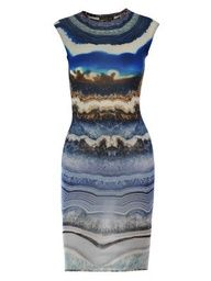 Alexander McQueen Agate print dress