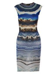 Alexander McQueen Agate print dress