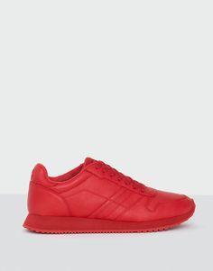 Pull&Bear - hombre - calzado - zapatillas - jogging monocolor rojo - rojo - 17275112-I2016