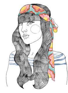 Fashion Illustration by Dani Moura for La Estampa's collection