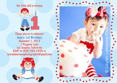 Raggedy Ann and Andy Birthday Party by LaurenLawrencePhoto on Etsy