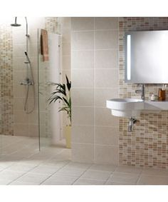 1000 images about bathroom cloakroom on pinterest basin mixer travertine and topps tiles Bathroom tiles ideas homebase