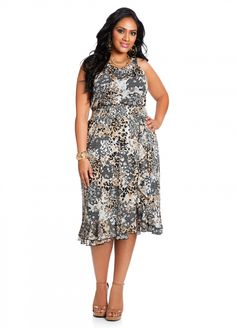 dd10215d284 Ashley Stewart  Ruffle Front Dress Curvy Girl Fashion
