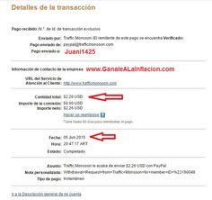 TrafficMonSoon | Prueba de Pago $2,26 -  05-06-2015 Hope You, Customer Service