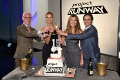 Heidi Klum and Nina Garcia Photos Photos - Project Runway hosts Tim Gunn, Heidi Klum, Nina Garcia, and Zac Posen attend the Project Runway Season 15 Cake-Cutting Celebration on July 12, 2016 in New York City. - 'Project Runway' Season 15 Cake-Cutting Celebration