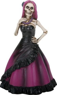 YTC Summit International Day of the Dead Lady Skeleton in Purple Dress Figurine Dia de Los Muertos New Skeleton Girl, Women Skeleton, Mexico Day Of The Dead, Halloween Wedding Cakes, Skull Candle, Dancing Day, Dance Poses, Hot Couples, Wedding Cake Toppers