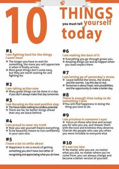 10 things...EVERYDAY say them!