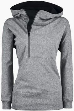 Trendy Hooded Long Sleeve Zippered Solid Color Women's Hoodie