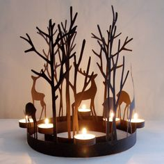 reindeer tealight rings by red lilly | notonthehighstreet.com