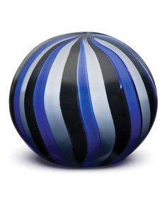 Love this Blue & Gray Stripe Glass Paperweight by Dynasty Gallery on #zulily! #zulilyfinds