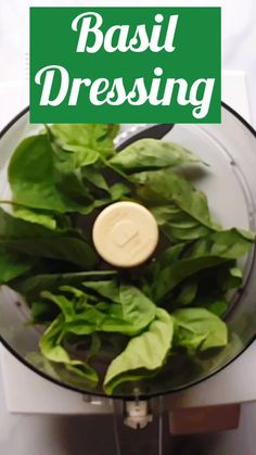 Lemony garlic Basil Dressing is fresh and sweet with a hint pepper. Drizzle on salads, sliced tomatoes, or spread over crusty bread. Vegan Recipes Videos, Vegetarian Recipes, Cooking Recipes, Healthy Recipes, Fresh Basil Recipes, Cucumber Recipes, Basil Salad Dressings, Salad Dressing Recipes, Vegan Meal Prep