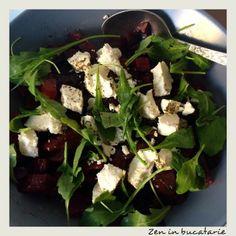 Salata de sfecla rosie cu branza de capra Beef, Food, Salads, Living Room Ideas, Meat, Essen, Meals, Yemek, Eten