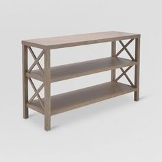 Owings Console Table With 2 Shelves Rustic - Threshold™ : Target - Home Decor Bunk Beds Built In, Young House Love, Contemporary Home Decor, Wood Veneer, Entryway Tables, Entryway Decor, Console Tables, Rustic Entryway, Entryway Console