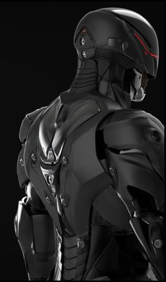 Robocop concept art by Eddie Yang Robot Concept Art, Armor Concept, Weapon Concept Art, Tactical Suit, Tactical Armor, Suit Of Armor, Body Armor, Cyberpunk, Science Fiction