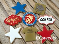 USMC - plaque - shirt - stars - semper fi - dog tags
