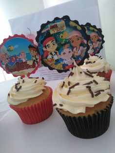 Cupcakes Jake y los piratas de nunca jamás