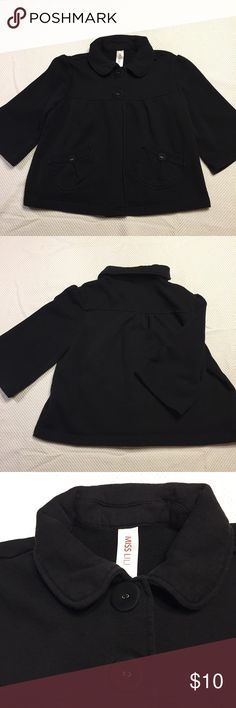 Dainty 3/4 Sleeve Jacket Great jacket to wear over dresses! It is made of 53% cotton and 47% polyester and is machine washable. Miss Lili Jackets & Coats